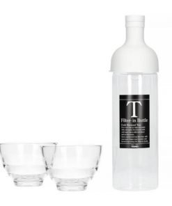 Hario Filter in Bottle & Tea Glass set