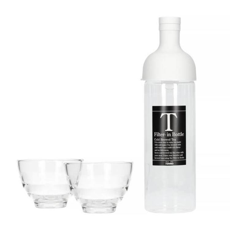 Hario Filter in Bottle & Tea Glass set